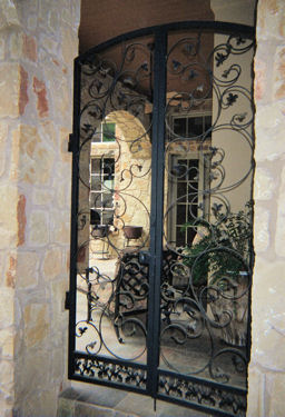wrought iron gate - weaver creative - evans weaver