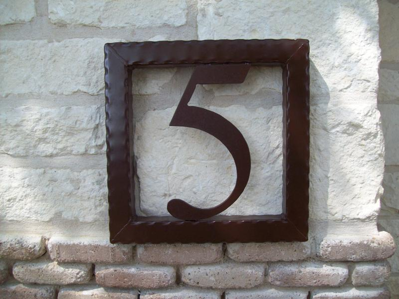 Evans Weaver   Iron House Numbers